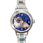 Rag Doll Cat D4 Round Italian Charm Watch