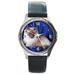 Rag Doll Cat D4 Round Metal Watch