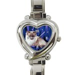 Rag Doll Cat D4 Heart Italian Charm Watch