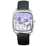 flowers1 p1 Square Metal Watch