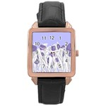 flowers1 p1 Rose Gold Leather Watch