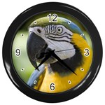 Handsome Parrot Wall Clock (Black)