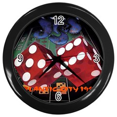 Atlantic City Wall Clock (Black) from ArtsNow.com Front