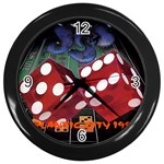 Atlantic City Wall Clock (Black)