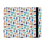 Blue Colorful Cats Silhouettes Pattern Samsung Galaxy Tab Pro 8.4  Flip Case