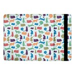 Blue Colorful Cats Silhouettes Pattern Samsung Galaxy Tab Pro 10.1  Flip Case