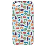 Blue Colorful Cats Silhouettes Pattern Apple iPhone 5 Hardshell Case