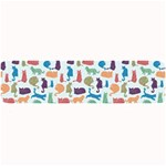 Blue Colorful Cats Silhouettes Pattern Large Bar Mats