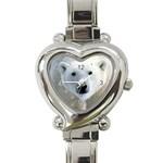 Fabulous Polar Bear Heart Italian Charm Watch