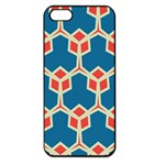Orange shapes on a blue background			Apple iPhone 5 Seamless Case (Black)