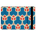 Orange shapes on a blue background			Apple iPad Air Flip Case