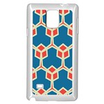 Orange shapes on a blue background			Samsung Galaxy Note 4 Case (White)