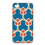 Orange shapes on a blue background			Apple iPhone 4/4s Seamless Case (Black)