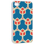 Orange shapes on a blue background			Apple iPhone 4/4s Seamless Case (White)