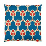 Orange shapes on a blue background 	Standard Cushion Case (Two Sides)