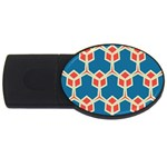Orange shapes on a blue background			USB Flash Drive Oval (2 GB)
