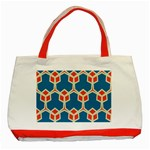 Orange shapes on a blue background			Classic Tote Bag (Red)