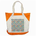 Blue Colorful Cats Silhouettes Pattern Accent Tote Bag