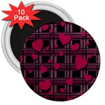 Harts pattern 3  Magnets (10 pack)