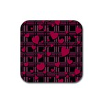 Harts pattern Rubber Square Coaster (4 pack)