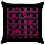 Harts pattern Throw Pillow Case (Black)