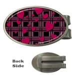 Harts pattern Money Clips (Oval)