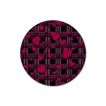 Harts pattern Rubber Coaster (Round)
