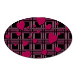 Harts pattern Oval Magnet