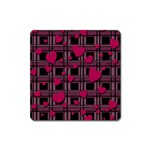 Harts pattern Square Magnet