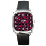 Harts pattern Square Metal Watch