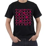 Harts pattern Men s T-Shirt (Black) (Two Sided)