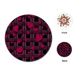 Harts pattern Playing Cards (Round)