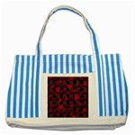 Harts pattern Striped Blue Tote Bag