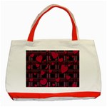 Harts pattern Classic Tote Bag (Red)
