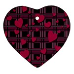 Harts pattern Heart Ornament (2 Sides)