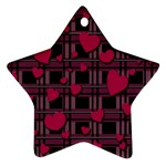 Harts pattern Star Ornament (Two Sides)