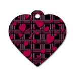 Harts pattern Dog Tag Heart (One Side)