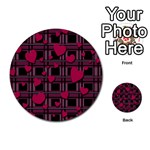 Harts pattern Multi-purpose Cards (Round)