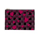 Harts pattern Cosmetic Bag (Large)