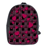Harts pattern School Bags(Large)