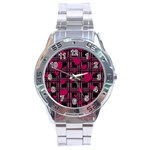 Harts pattern Stainless Steel Analogue Watch