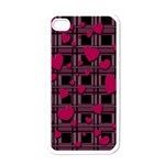 Harts pattern Apple iPhone 4 Case (White)