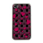 Harts pattern Apple iPhone 4 Case (Clear)
