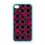 Harts pattern Apple iPhone 4 Case (Color)