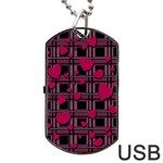 Harts pattern Dog Tag USB Flash (Two Sides)