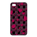 Harts pattern Apple iPhone 4/4s Seamless Case (Black)