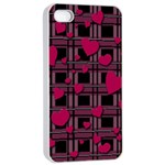 Harts pattern Apple iPhone 4/4s Seamless Case (White)