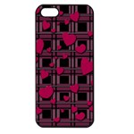 Harts pattern Apple iPhone 5 Seamless Case (Black)