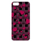 Harts pattern Apple iPhone 5 Seamless Case (White)