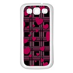 Harts pattern Samsung Galaxy S3 Back Case (White)